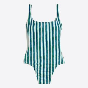 J. Crew Striped One Piece Swimsuit